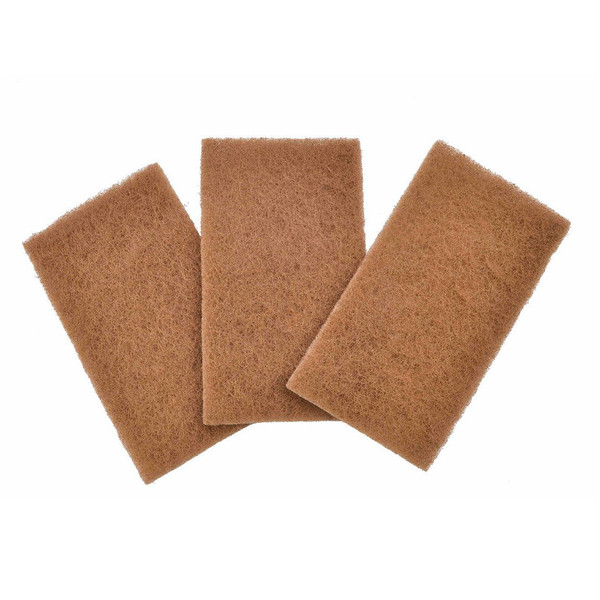 walnut natural scour pads