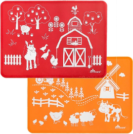 Barnyard Friends Silicone Placemats (set of 2)