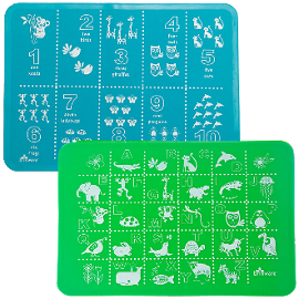 ABC + 123 Silicone Placemats (Set of 2)
