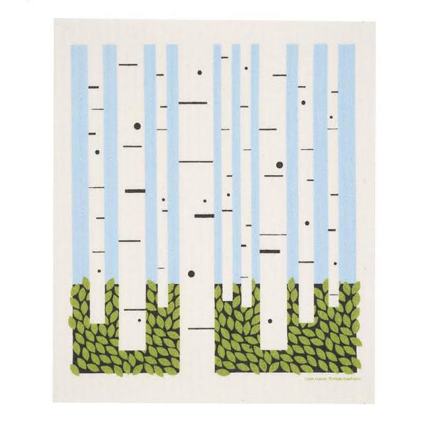 Birch Forest Swedish Dishcloth