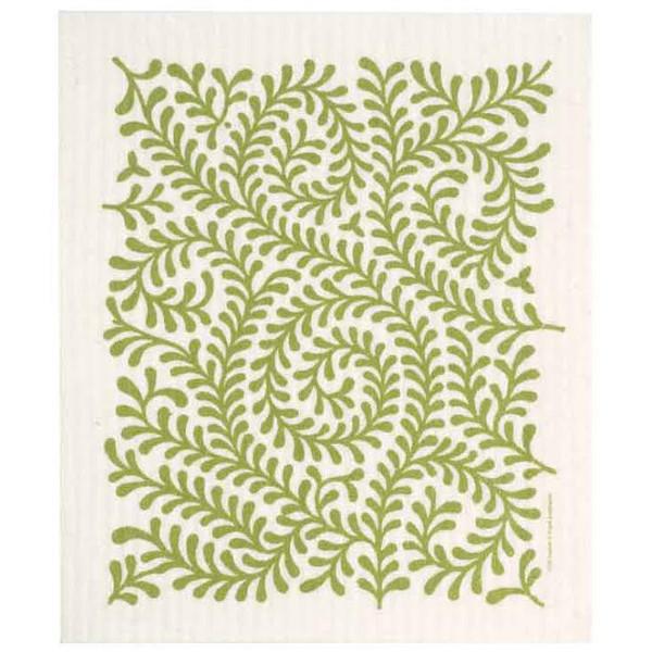 Green Leaves Swedish Dishcloth