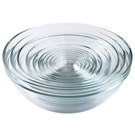 Lys Nesting Glass Bowls, Set of 10