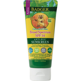 Bug Repellant Sunscreen, SPF 34