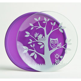 Glass Plates with Silicone Sleeve (set of 2)