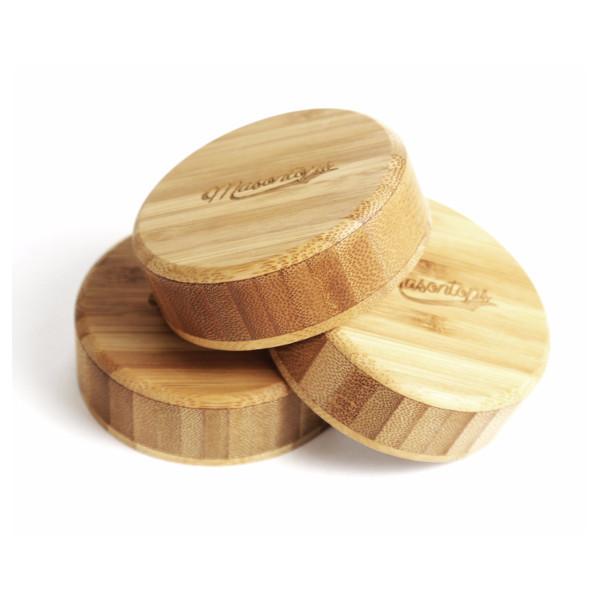 Bamboo Lids for Mason Jars (3-pack)