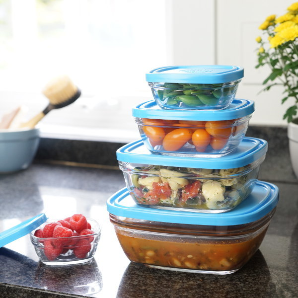Duralex Square Food Storage 5 piece set