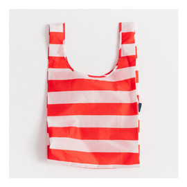 Reusable Shopping Bag, Red Stripe