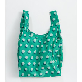Reusable Shopping Bag, Green Disco Dot