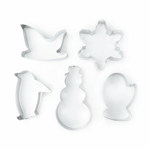 Stainless Steel Cookie Cutters (5 piece set)