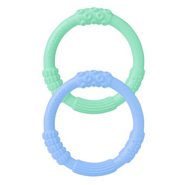 Multi-Sensory Silicone Teething Rings (2-pack)