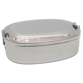 Stainless Steel Oval Food Storage