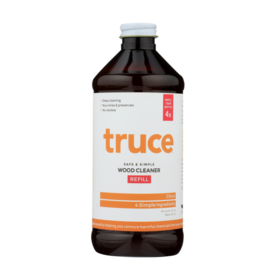 Truce wood cleaner refill bottle