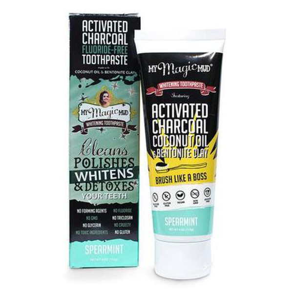 Activated Charcoal Toothpaste, 4 oz.