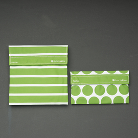 LunchSkins Reusable Sandwich Bag Set - Green