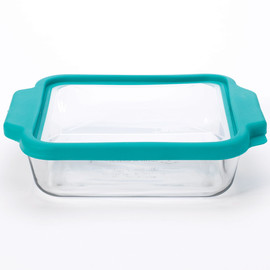 Square Glass Cake Pan with TrueFit Lid