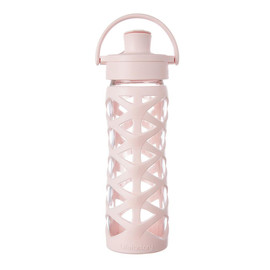 16 oz Glass Water Bottle with Active Flip Cap and Silicone Sleeve