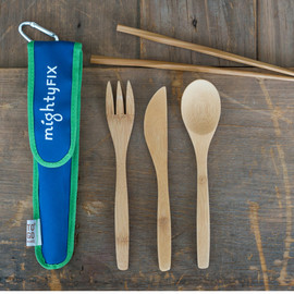 Bamboo RePEaT Utensil Set in MightyNest holder
