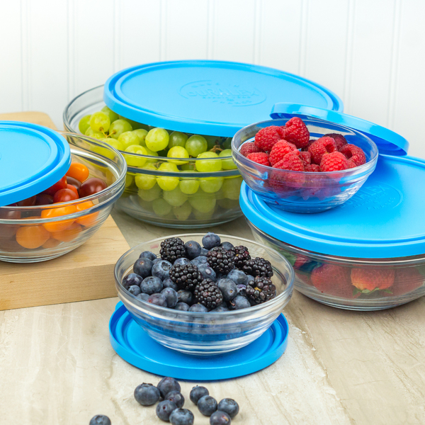 5-Piece Lys Glass Nesting Containers, Round or Square