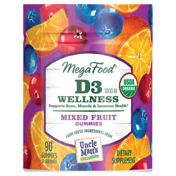 D3 Wellness Mixed Fruit Gummies