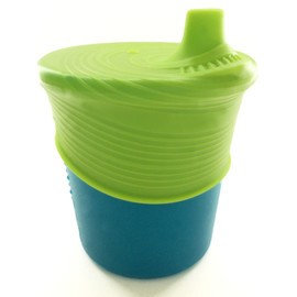 Siliskin Sippy Cup, Teal/Lime