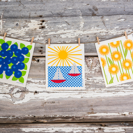 Swedish Dishcloth Set of 3, Summer Fun