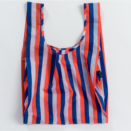 Reusable Shopping Bag, Red 90s Stripe