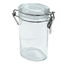 Glass Spice Jar, Oval, 4 oz