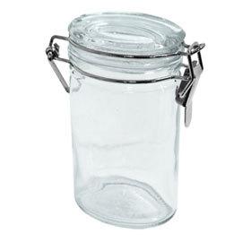 Glass Spice Jar, Oval, 4 oz
