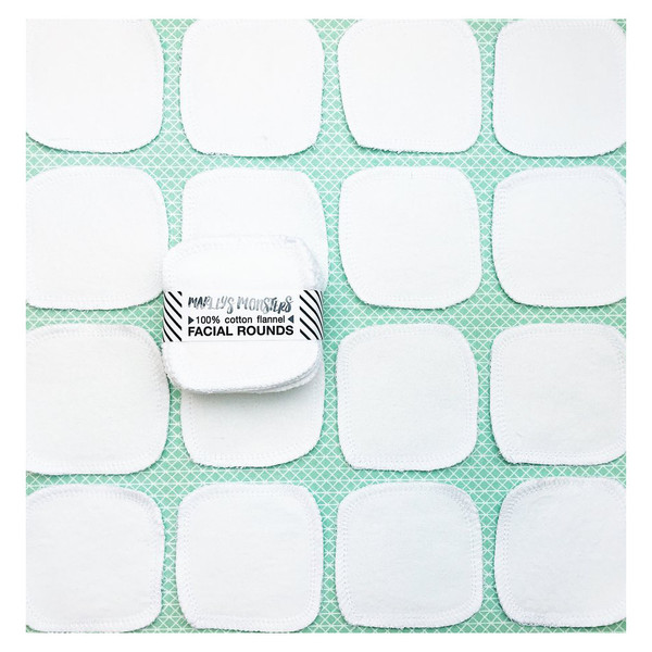 Cotton Flannel Facial Rounds