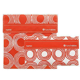 LunchSkins Reusable Sandwich Bag Set - Sunset Circles