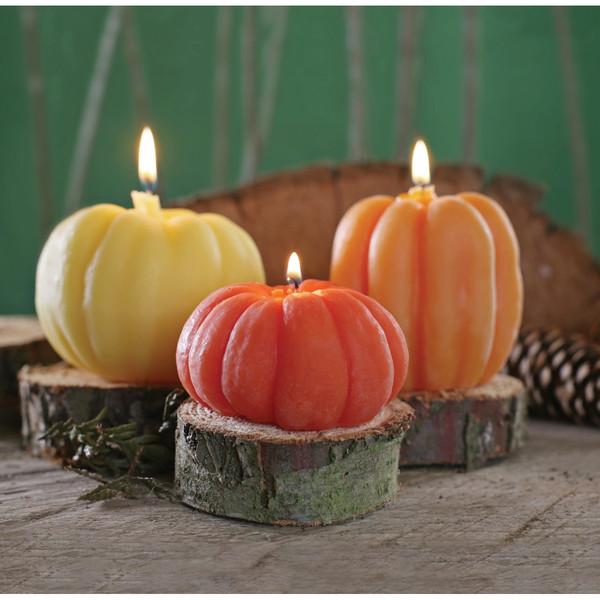 Pumpkin Candles Set of 3