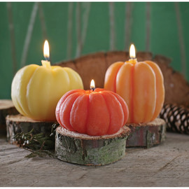 Pumpkin Candles Set of 3