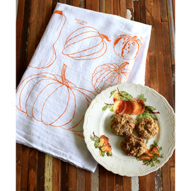 Cotton Tea Towel, Squash