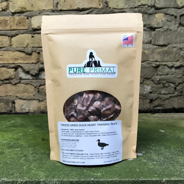 Duck Heart Training Treats for Dogs and Cats