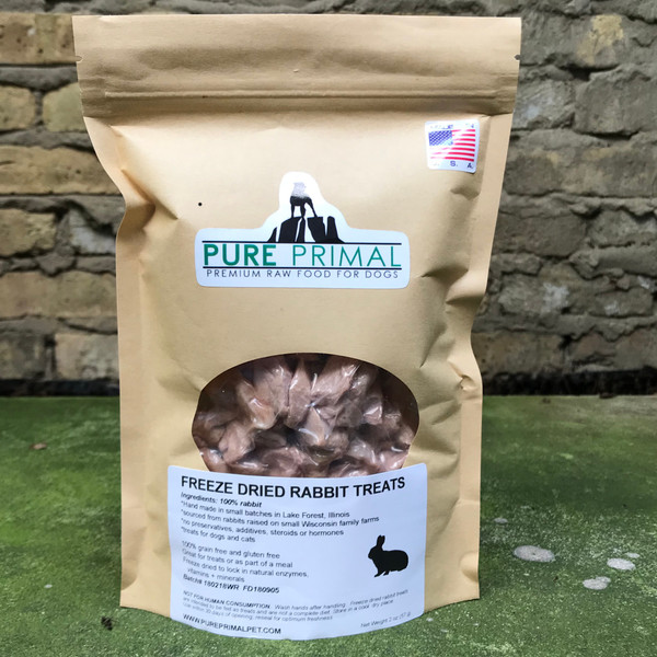 Freeze Dried Rabbit Treats for Dogs and Cats
