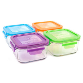 16oz Glass Lunch Cube Set of 4