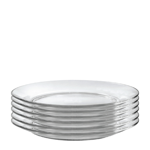 Lys 9-inch Glass Dinner Plate, Set of 6