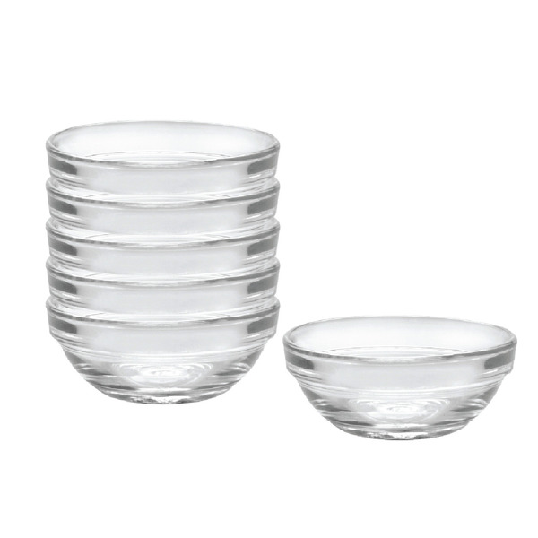 Lys Stackable Glass Bowl, Set of 6