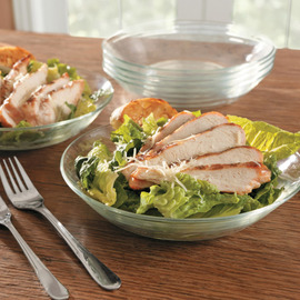 Lys Glass Calotte Plate, Set of 6