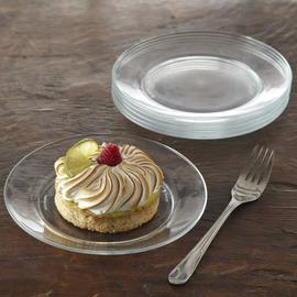 Lys Glass Dessert Plate, Set of 6
