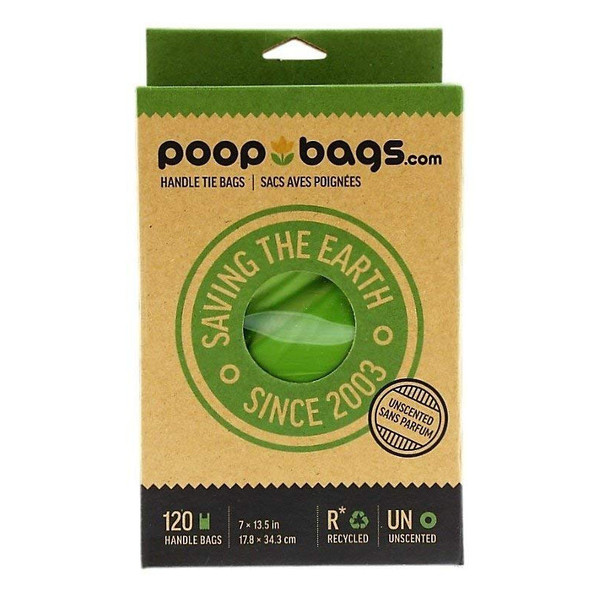 Recycled Dog Poop Bags with Handle Tie