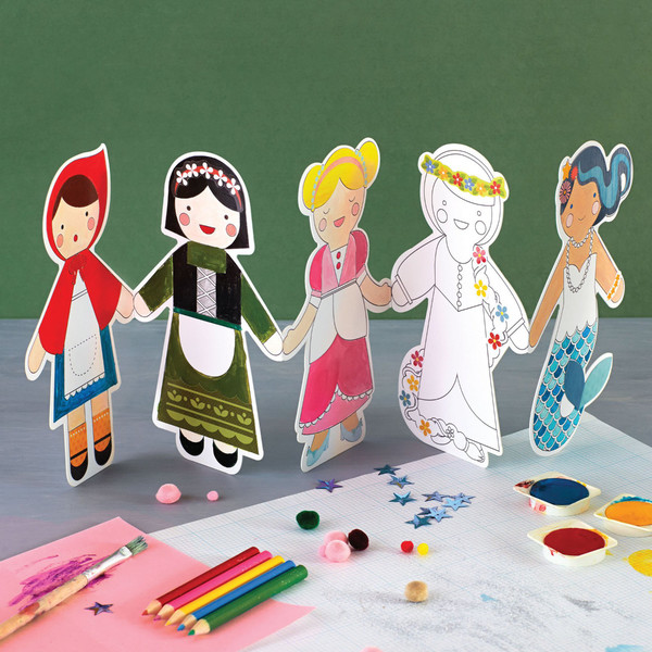 Fairy Tales Paper Doll Chain Kit