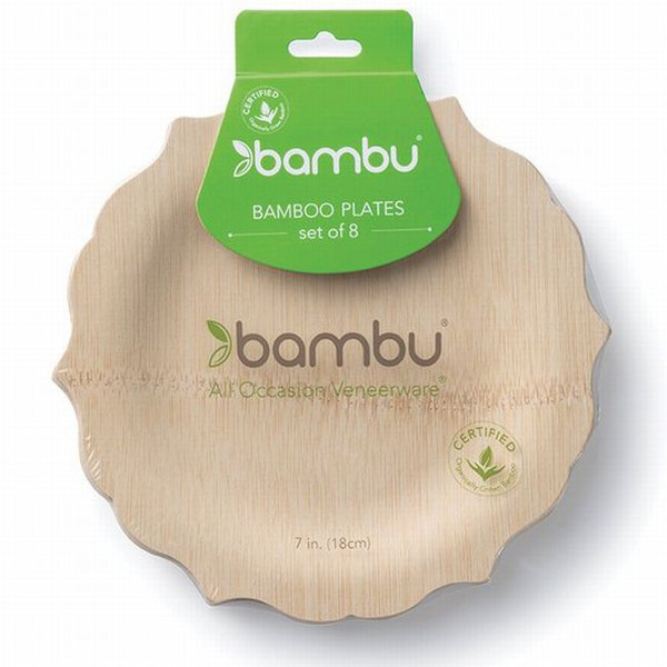 Bamboo Veneerware Fancy Plates