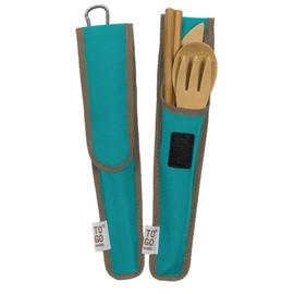 Bamboo RePEaT Utensil Set, in case