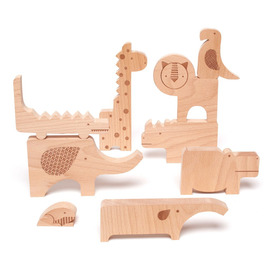 Wooden Animal Puzzle and Play Set