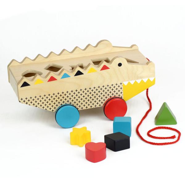 Rock + Roll Alligator Pull Toy