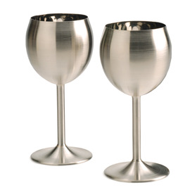 Endurance Stainless Steel Wine Glasses, set of 2