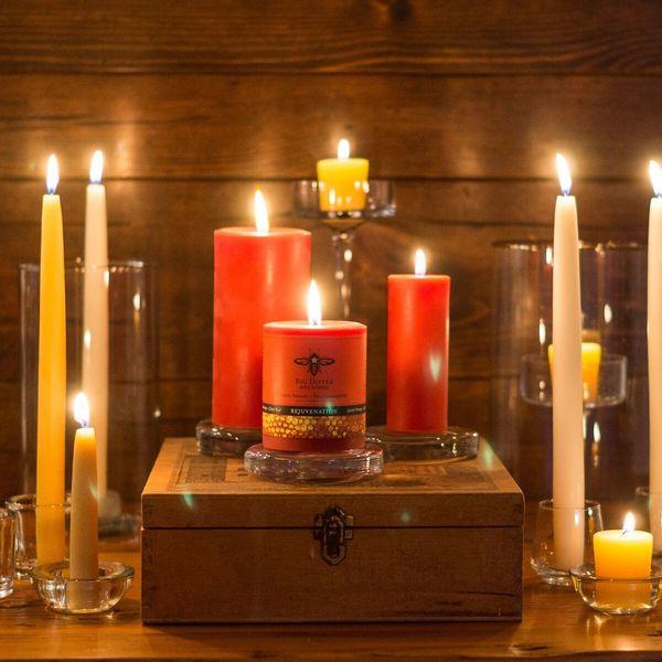 Beeswax Aromatherapy Pillars - Clove Bud & Sweet Orange