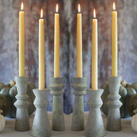 Hand Dipped Beeswax Taper Candles