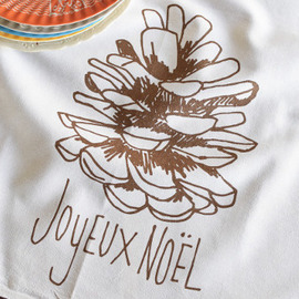 Cotton Tea Towel, Joyeux Noel
